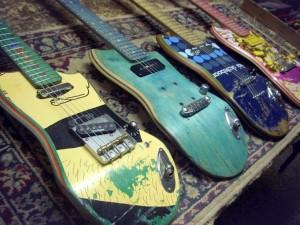 guitars made from skateboads