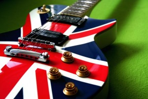 guitar with england flag