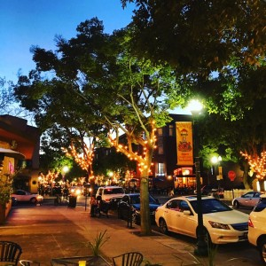 downtown campbell at night
