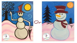 learn to paint snowmen at campbell restaurant